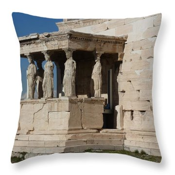 Erechteion With Nike Temple Throw Pillow