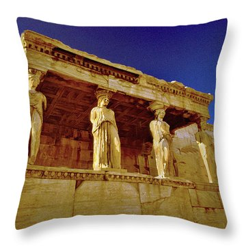 Erechtheum Athens Ver 1 Throw Pillow