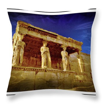 Erechtheum Athens Ver 2 Throw Pillow