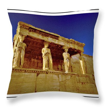 Erechtheum Athens Ver 3 Throw Pillow