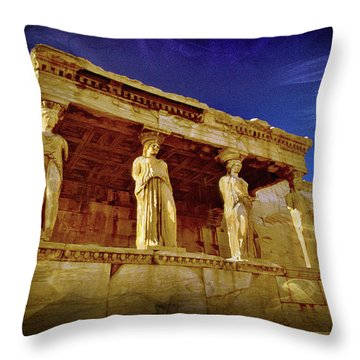 Erechtheum Athens Ver 4 Throw Pillow