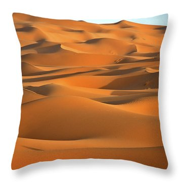 Throw Pillows Magnolia : Erg Chebbi Desert Photograph by Henk Meijer Photography