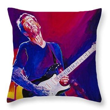 Art Eric Clapton Guitar Throw Pillows