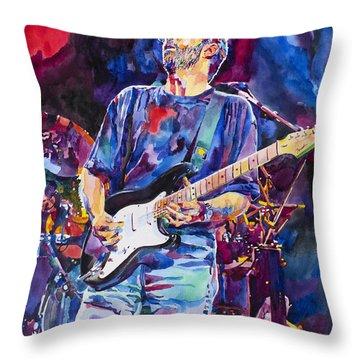 Eric Clapton And Blackie Throw Pillow