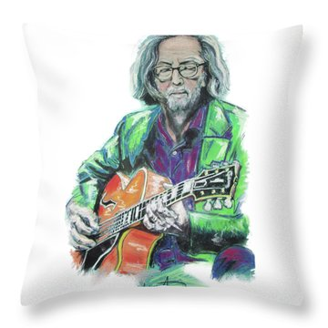 Eric Clapton Throw Pillow by Melanie D
