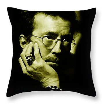 Eric Clapton Throw Pillow by Plamen Petkov