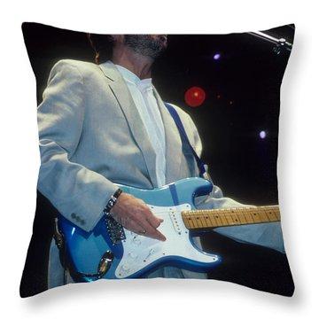 Eric Clapton Throw Pillow by Rich Fuscia