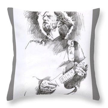 Eric Clapton Sustains Throw Pillow