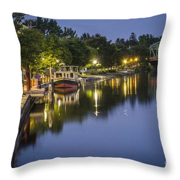 Erie Canal Stroll Throw Pillow