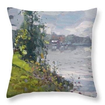 Erie Canal Throw Pillow