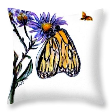 Erika's Butterfly One Throw Pillow