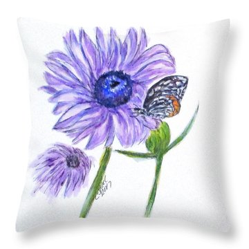 Erika's Butterfly Three Throw Pillow