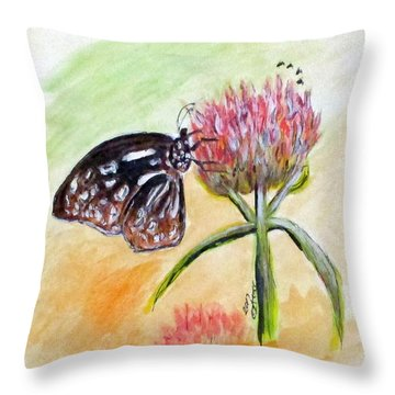 Erika's Butterfly Two Throw Pillow