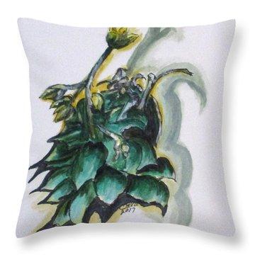 Erika's Spring Plant Throw Pillow