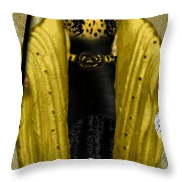 Throw Pillow featuring the digital art Erin by Digital Art Cafe