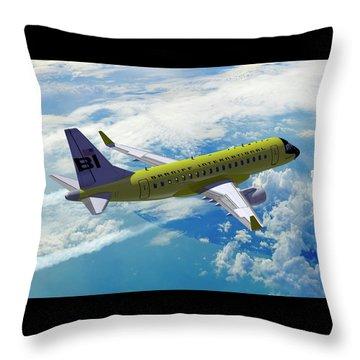 Erj 170 Throw Pillow by Daniel Uhr