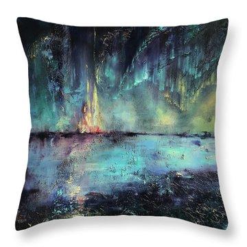 Erluption Throw Pillow