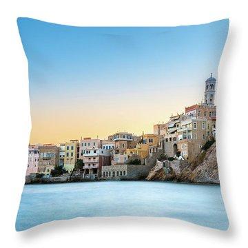 Ermoupoli - Syros / Greece. Throw Pillow by Stavros Argyropoulos