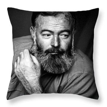 Ernest Hemingway 1944 Throw Pillow