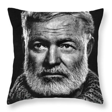 Ernest Hemingway Throw Pillow