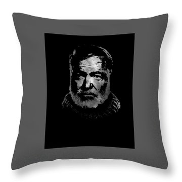 Ernest Hemingway Throw Pillow
