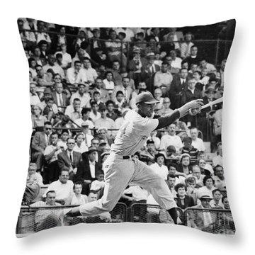 Ernie Banks (1931- ) Throw Pillow by Granger