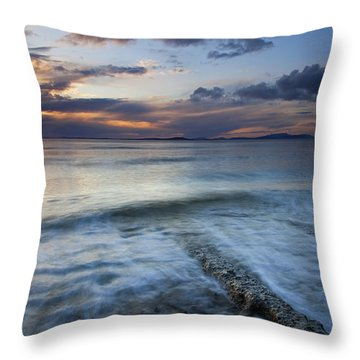Eroded By The Tides Throw Pillow