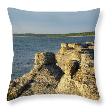 Throw Pillow featuring the photograph Eroded Cliff Formations by Kennerth and Birgitta Kullman