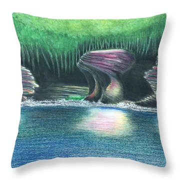 Eroding Away Throw Pillow