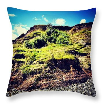 Erosion In Slow Motion Throw Pillow