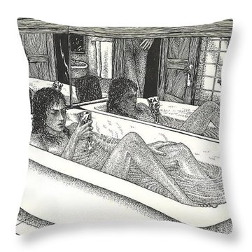 Erotique Throw Pillow