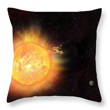 Eruption - Solar Storm Throw Pillow