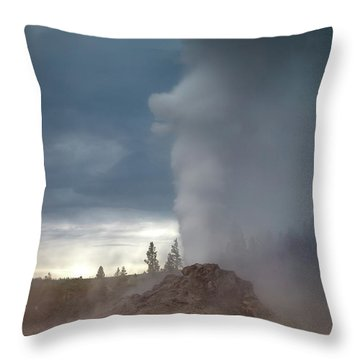 Eruption Throw Pillow by Edgars Erglis
