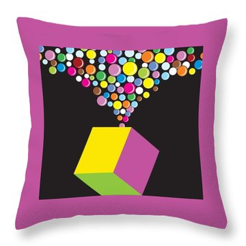 Eruption Throw Pillow by Now