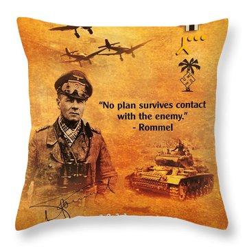 Erwin Rommel Tribute Throw Pillow