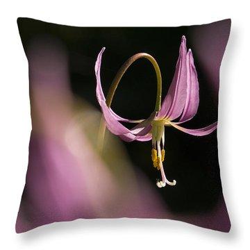 Erythronium Revolutum -365-35 Throw Pillow