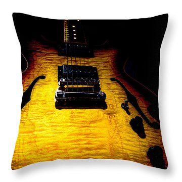 Es-335 Dots Flame Burst Spotlight Series Throw Pillow