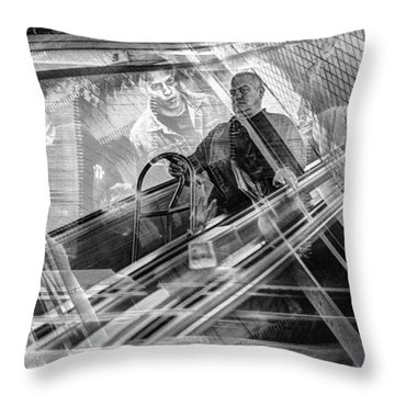 Throw Pillow featuring the photograph Escalator Collage 1 by Dave Beckerman