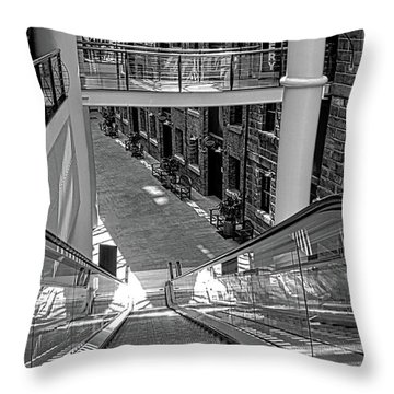 Escalator Going Down In Sydney Throw Pillow by Kirsten Giving