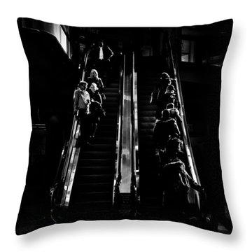 Throw Pillow featuring the photograph Escalator No 1 by Brian Carson