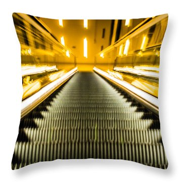 Escalator Throw Pillow