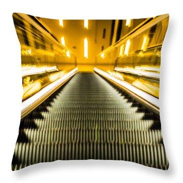 Escalator Throw Pillow