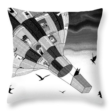 Escape Throw Pillow by Andrew Hitchen