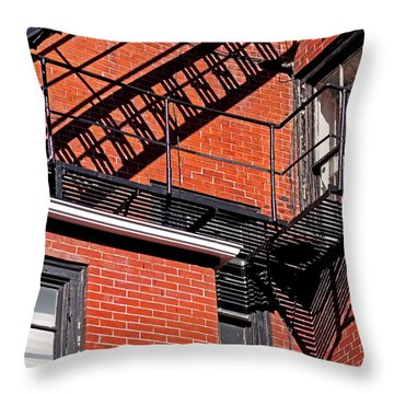 Escape Angles Throw Pillow by Rona Black