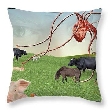Escape From Eden Throw Pillow