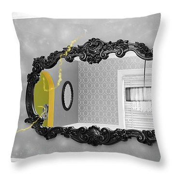 Escape From The Yellow Room Throw Pillow