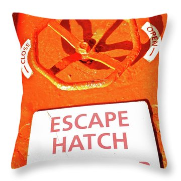 Escape Hatch Throw Pillow
