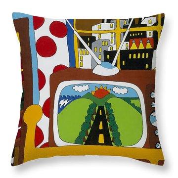 Escape Throw Pillow by Rojax Art