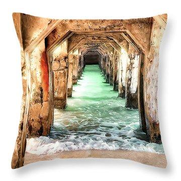 Escape To Atlantis Throw Pillow
