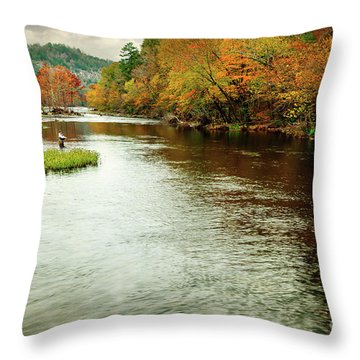 Escape To Beaver's Bend Throw Pillow